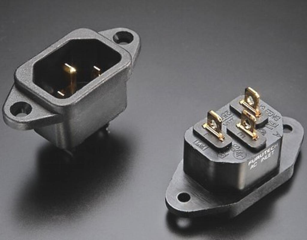 Conector Ac Iec Furutech Inlet Gold