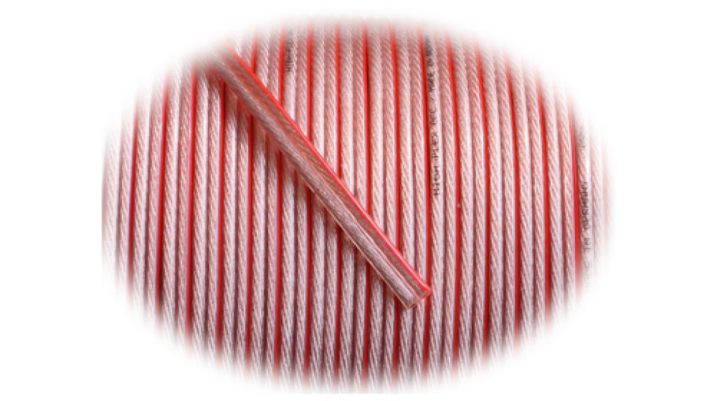 Cablu de Boxe GoldKabel High-Flex rosu-transparent 2 x 4.0mm