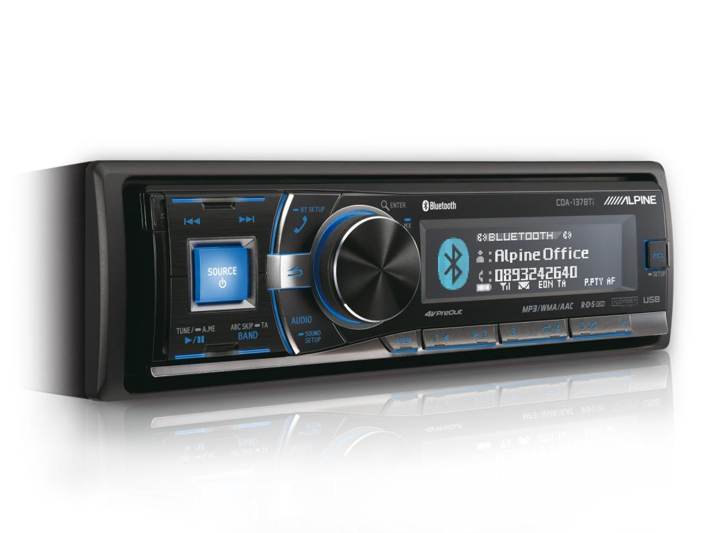 CD Player Auto Alpine CDA-137 BTI