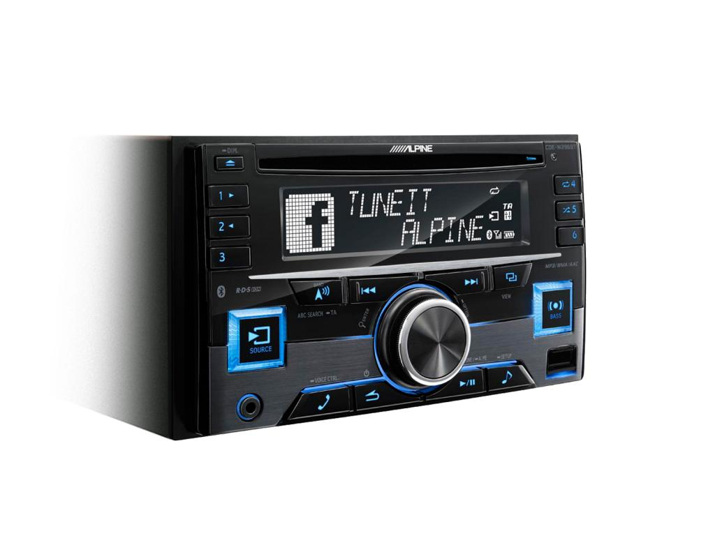 CD Player Auto Alpine CDE-W296BT