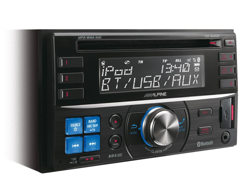 CD Player Auto Alpine CDE-W235BT