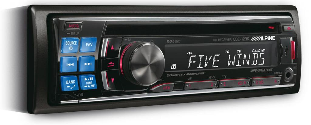CD Player Auto Alpine CDE-123R