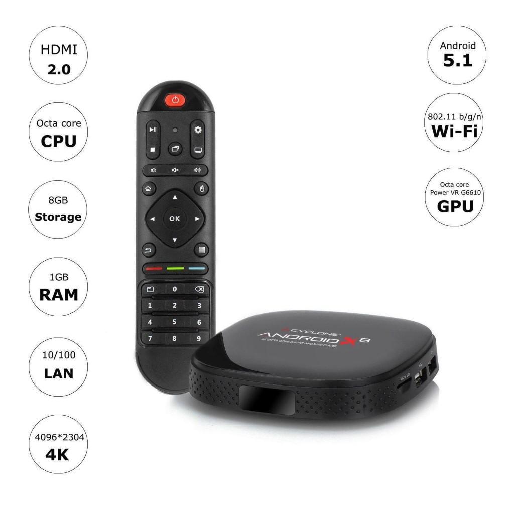 Media Player Sumvision Cyclone Android X8 4K desigilat