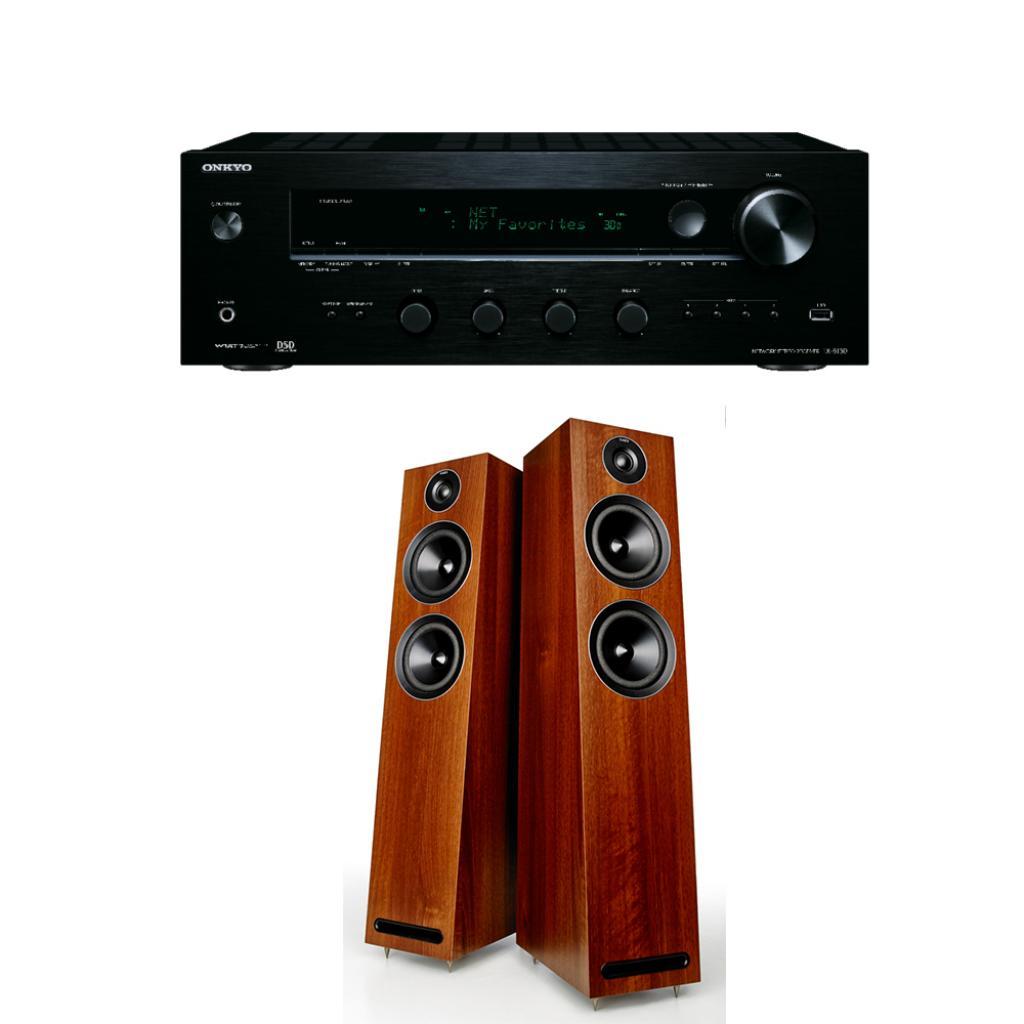 Pachet Amplificator Receiver Onkyo TX-8130 + Boxe Acoustic Energy 103 desigilat