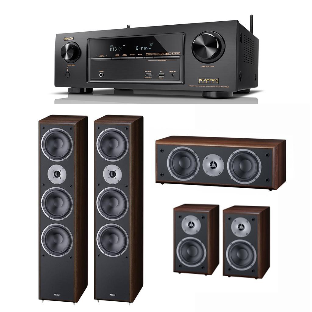 Pachet Receiver AV Denon AVR-X1300W + Boxe Magnat Monitor Supreme 1002 + Boxe Magnat Monitor Supreme