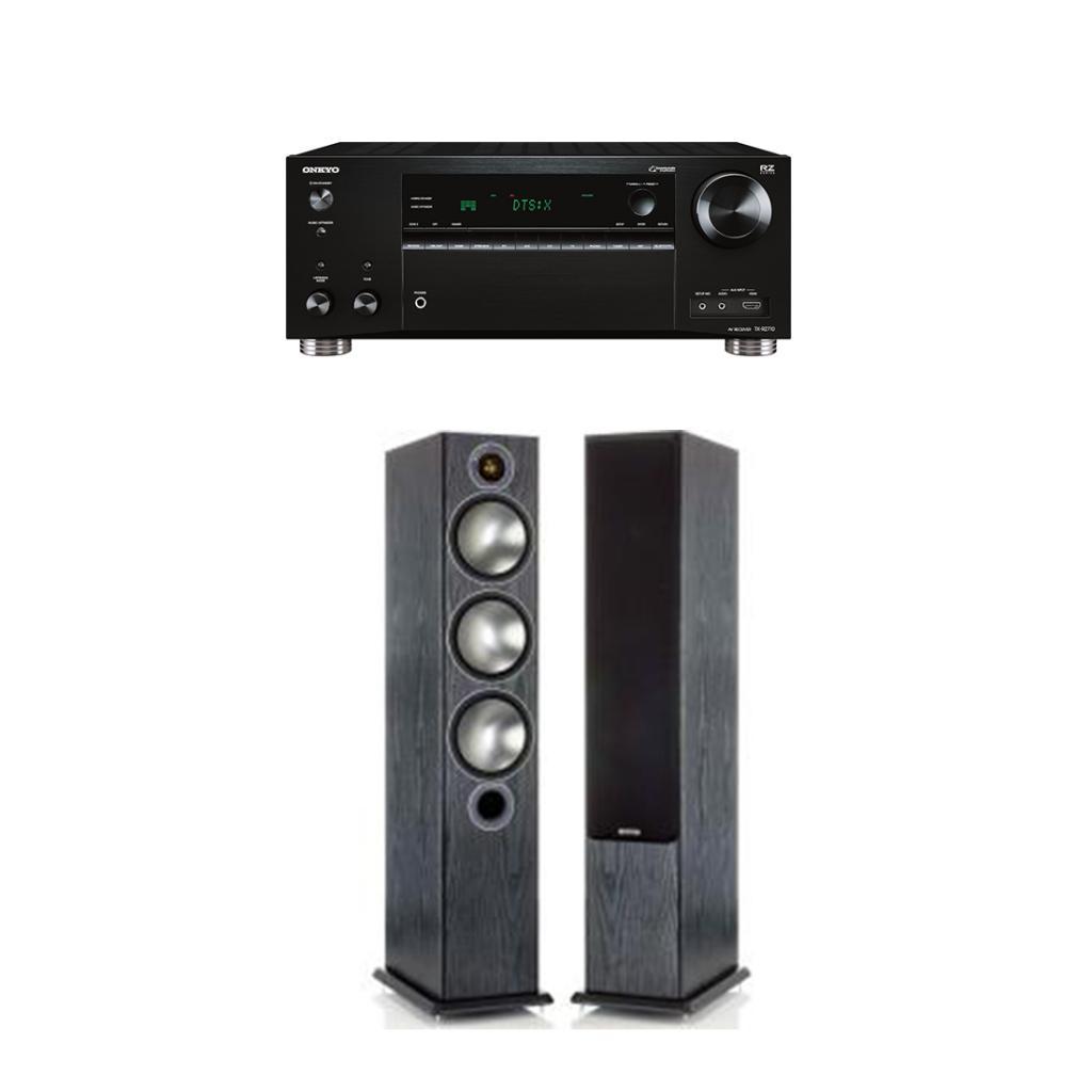 Pachet Receiver AV Onkyo TX-RZ710 + Boxe Monitor Audio Bronze 6