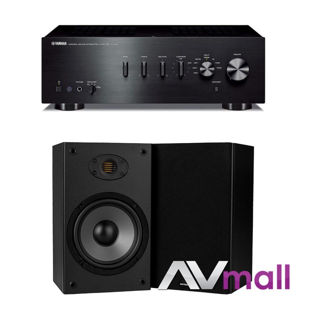 Pachet Amplificator Integrat Yamaha A-S301 + Boxe Dayton Audio B652 Air