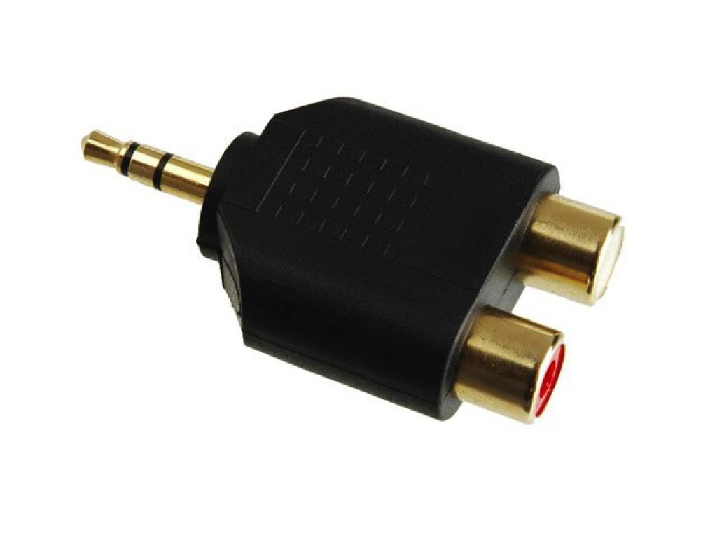 Conector Adaptor Rca-jack 3.5mm Kacsa Audio Aa-664