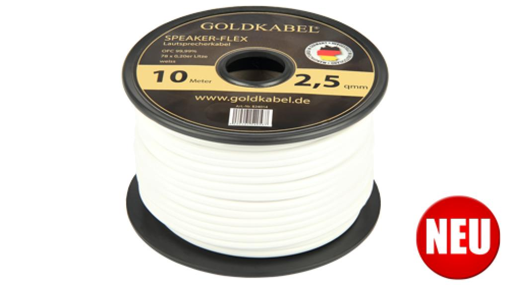Mini Rola Cablu De Boxe Goldkabel Speaker-flex Alb