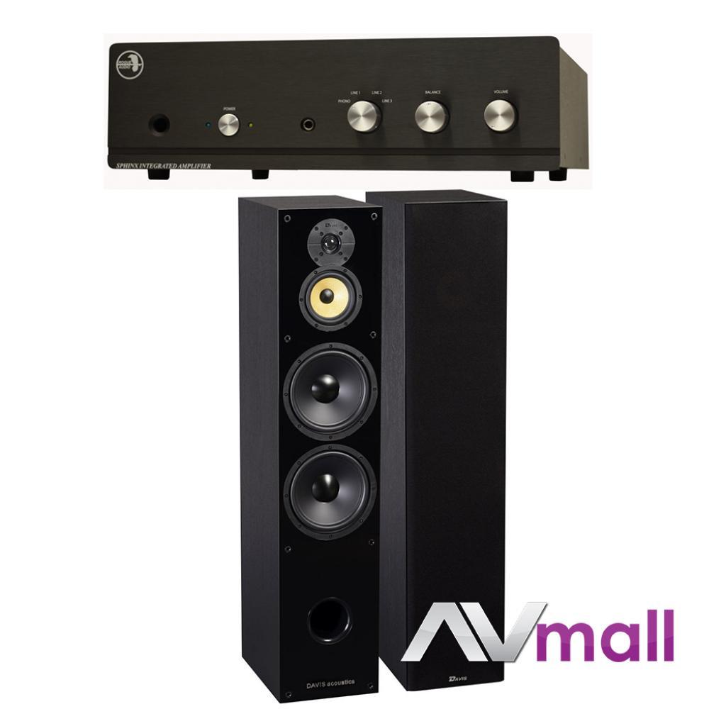 Pachet Amplificator Integrat Rogue Audio Sphinx V2 + Boxe Davis Acoustics Balthus 90