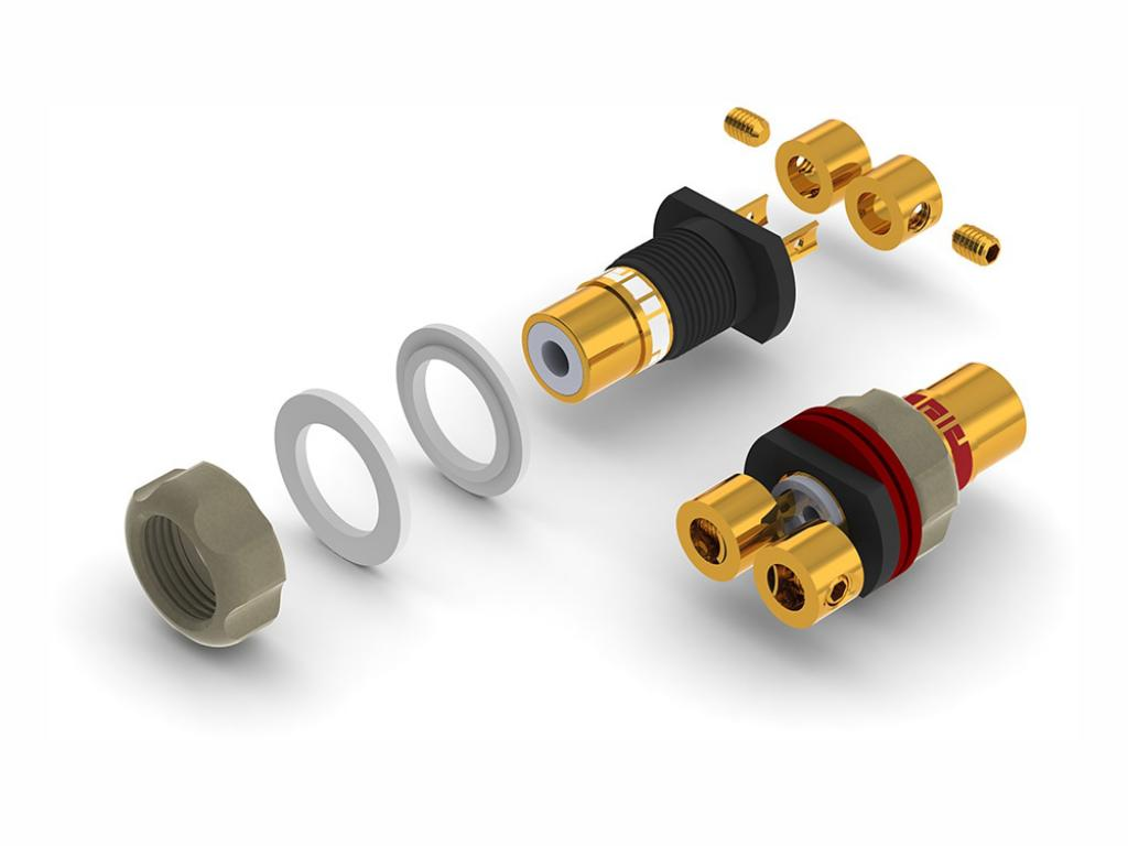 Conector Socket RCA Aeco ARJ-4045 Gold Plated