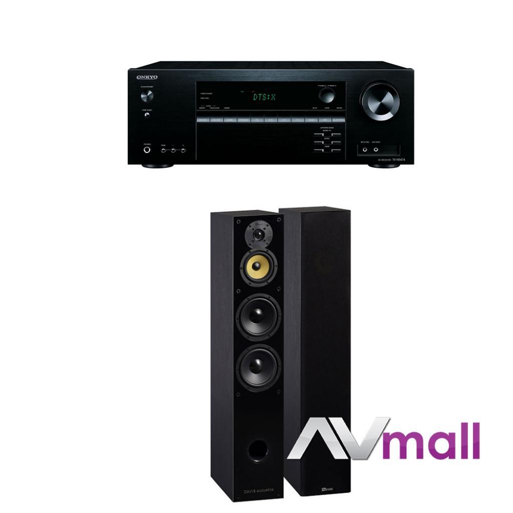 Pachet Receiver AV Onkyo TX-NR474 + Boxe Davis Acoustics Balthus 70