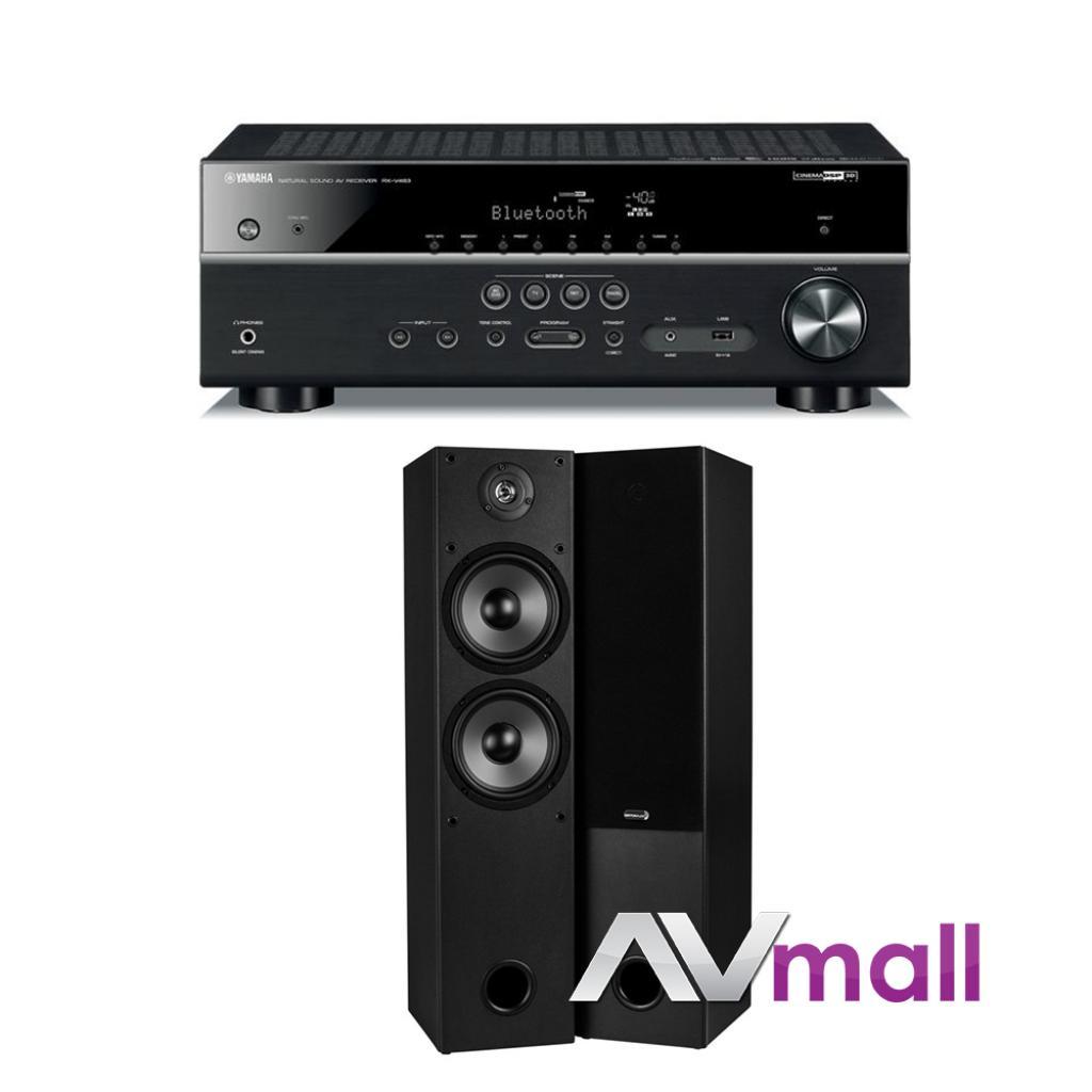 Pachet Receiver AV Yamaha RX-V483 + Boxe Dayton Audio T652 Dual