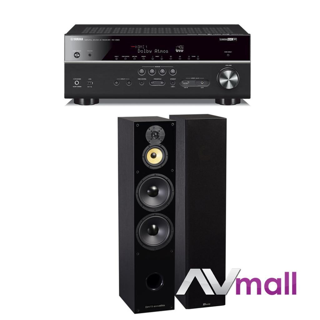 Pachet Receiver AV Yamaha MusicCast RX-V683 + Boxe Davis Acoustics Balthus 90