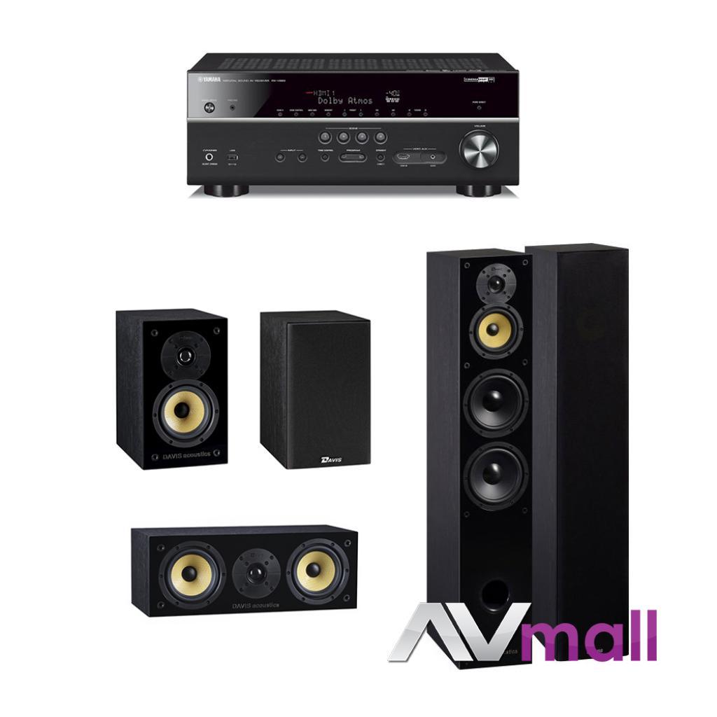 Pachet Receiver AV Yamaha MusicCast RX-V683 + Sistem de Boxe 5.0 Davis Acoustics Balthus 1