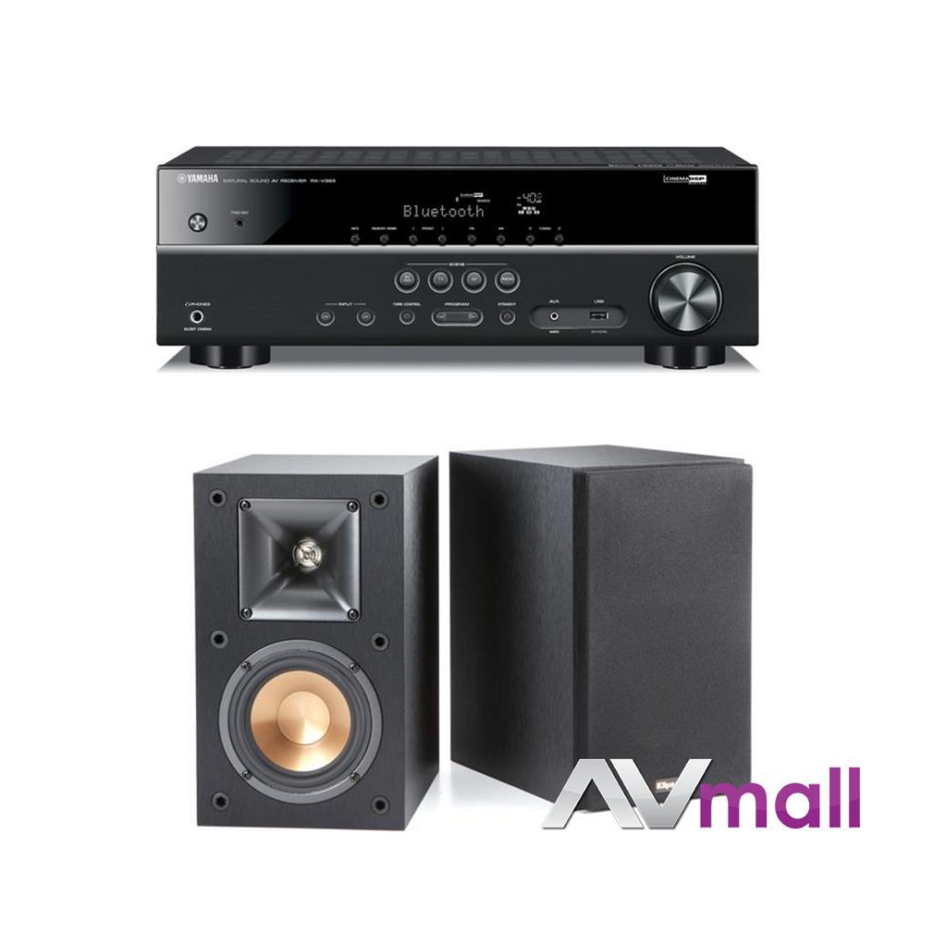Pachet Receiver AV Yamaha RX-V383 + Boxe Klipsch Reference R-14M