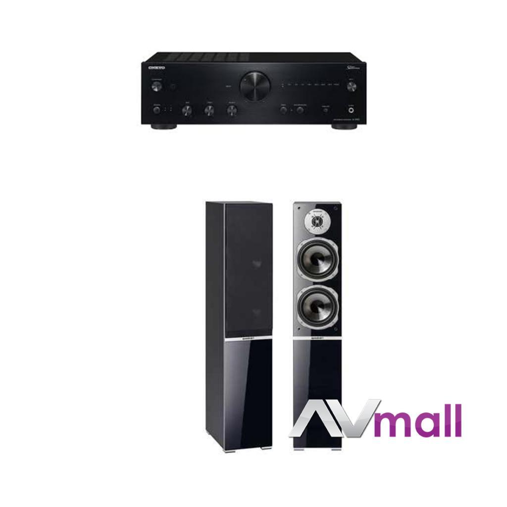 Pachet Amplificator Integrat Onkyo A-9150 + Boxe Quadral Argentum 570