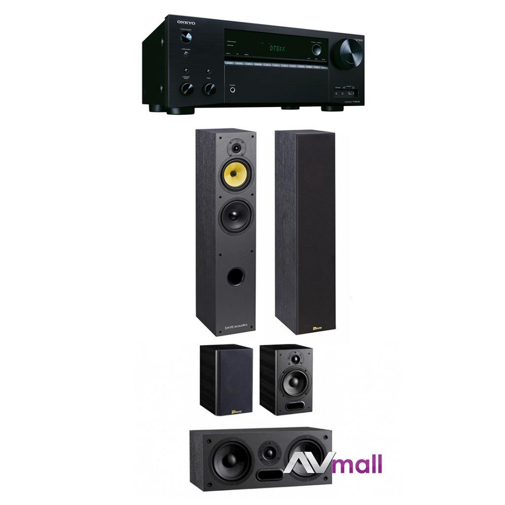 Pachet Receiver AV Onkyo TX-NR676E + Sistem de Boxe 5.0 Davis Acoustics Maya