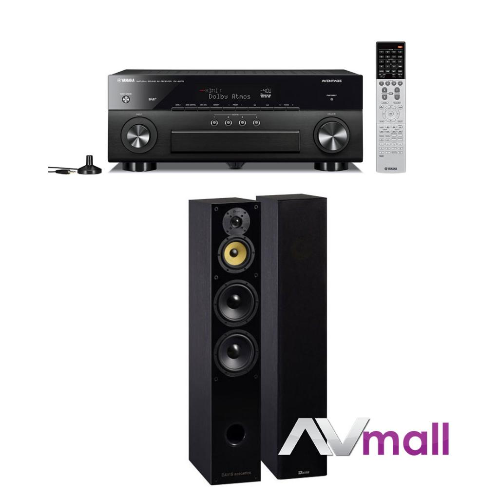 Pachet Receiver AV Yamaha RX-A870 + Boxe Davis Acoustics Balthus 70