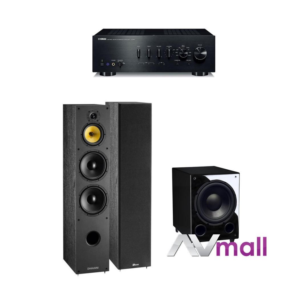 Pachet Amplificator Integrat Yamaha A-S801 + Boxe Davis Acoustics Dhavani + Subwoofer Davis Acoustic