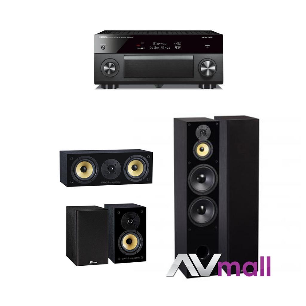 Pachet Receiver AV Yamaha RX-A2070 + Boxe Davis Acoustics Balthus 90 + Boxe Davis Acoustics Balthus