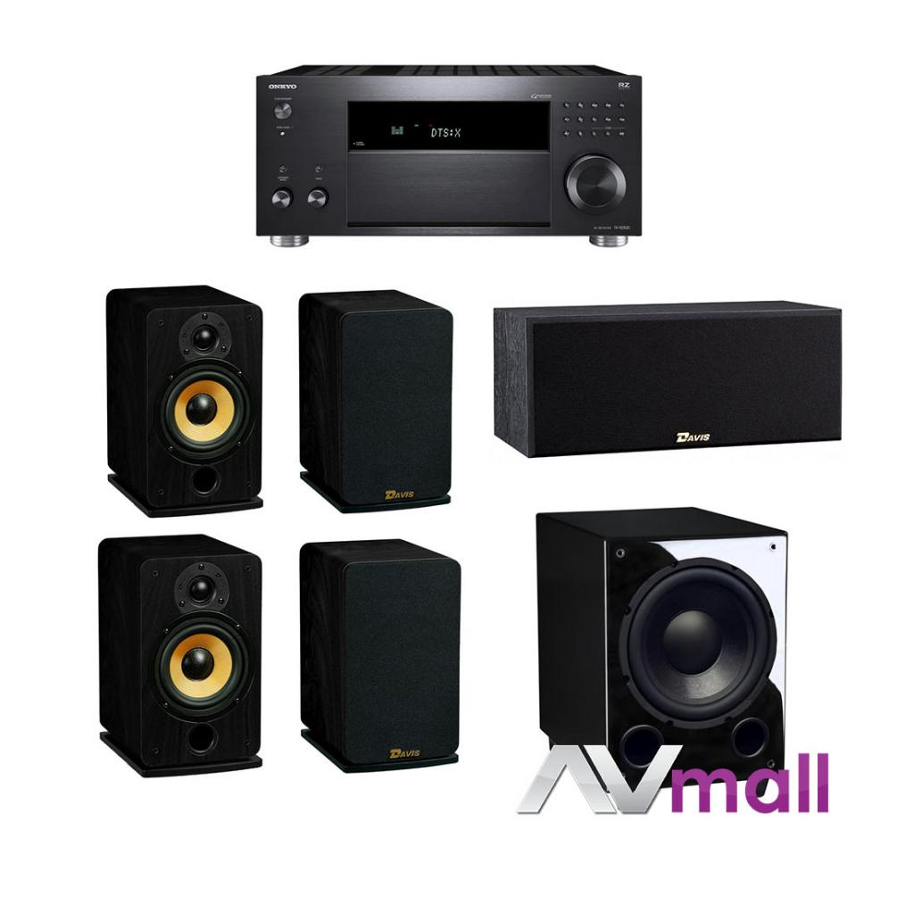 Pachet Receiver AV Onkyo TX-RZ820 + Boxe Davis Acoustics Eva + Boxa Davis Acoustics Central Sacha +