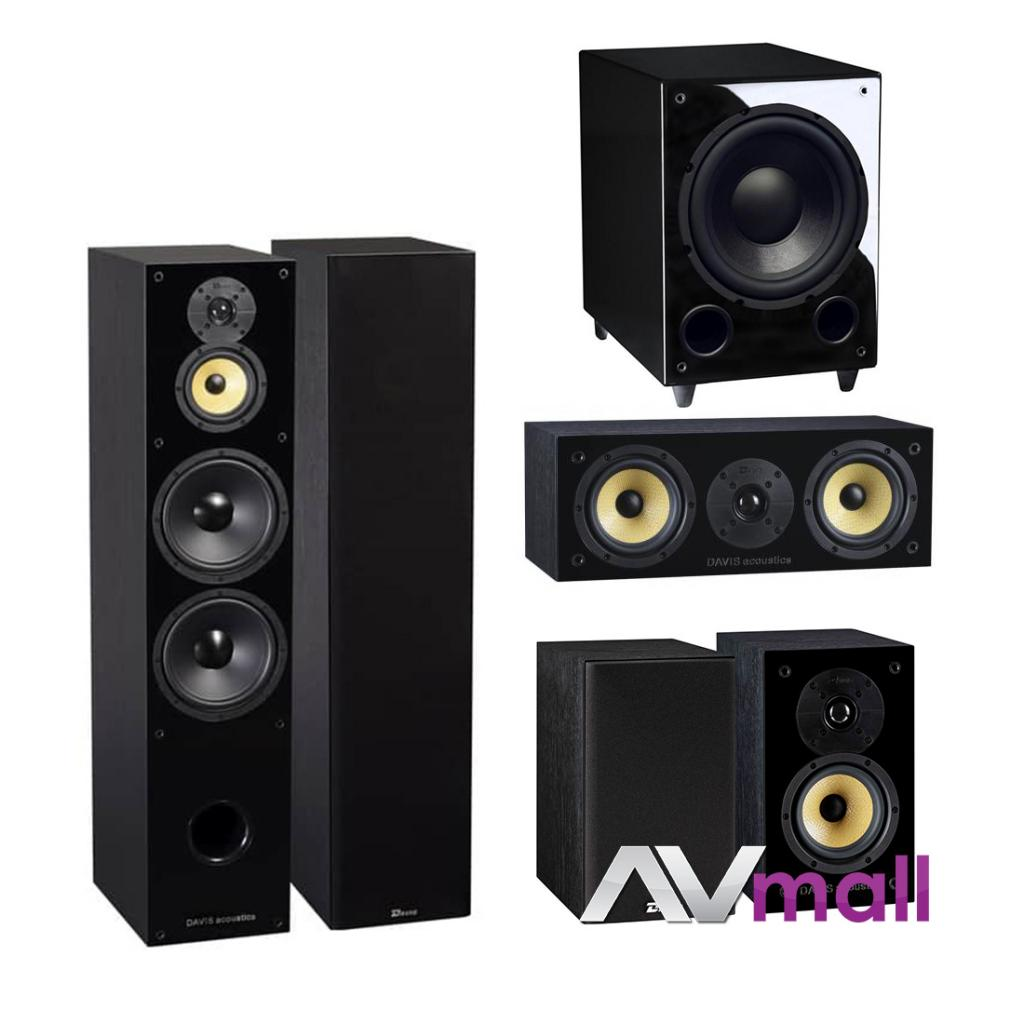 Pachet Boxe Davis Acoustics Balthus 90 + Boxe Davis Acoustics Balthus 30 + Boxa Davis Acoustics Balthus 10 + Subwoofer Davis Acoustics Basson 77