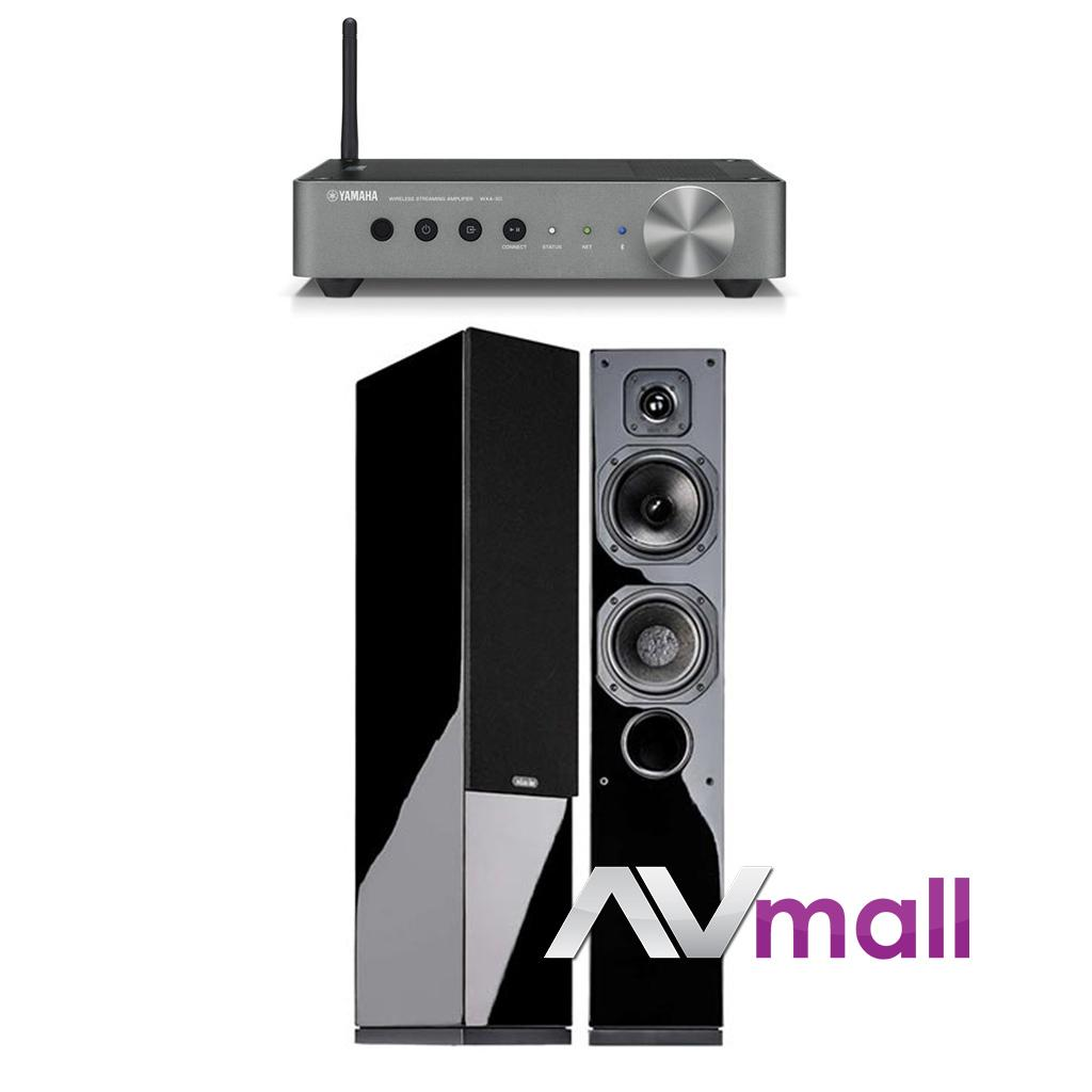 Pachet Amplificator Receiver Yamaha WX-A50 + Boxe Indiana Line Diva 552
