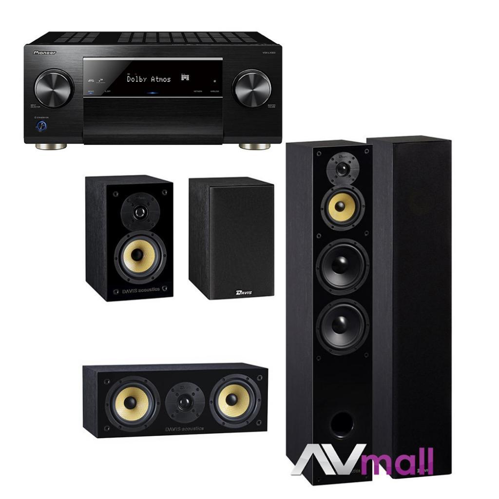 Pioneer - Davis Acoustics Pachet Receiver AV Pioneer VSX-LX503 + Pachet Boxe Davis Acoustics Balthus 70 + Boxe Davis Acoustics Balthus 30 + Boxa Davis Acoustics Balthus 10