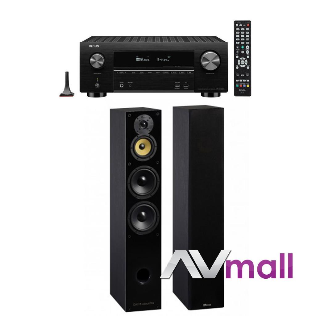 Pachet Receiver AV Denon AVR-X3500H + Boxe Davis Acoustics Balthus 70
