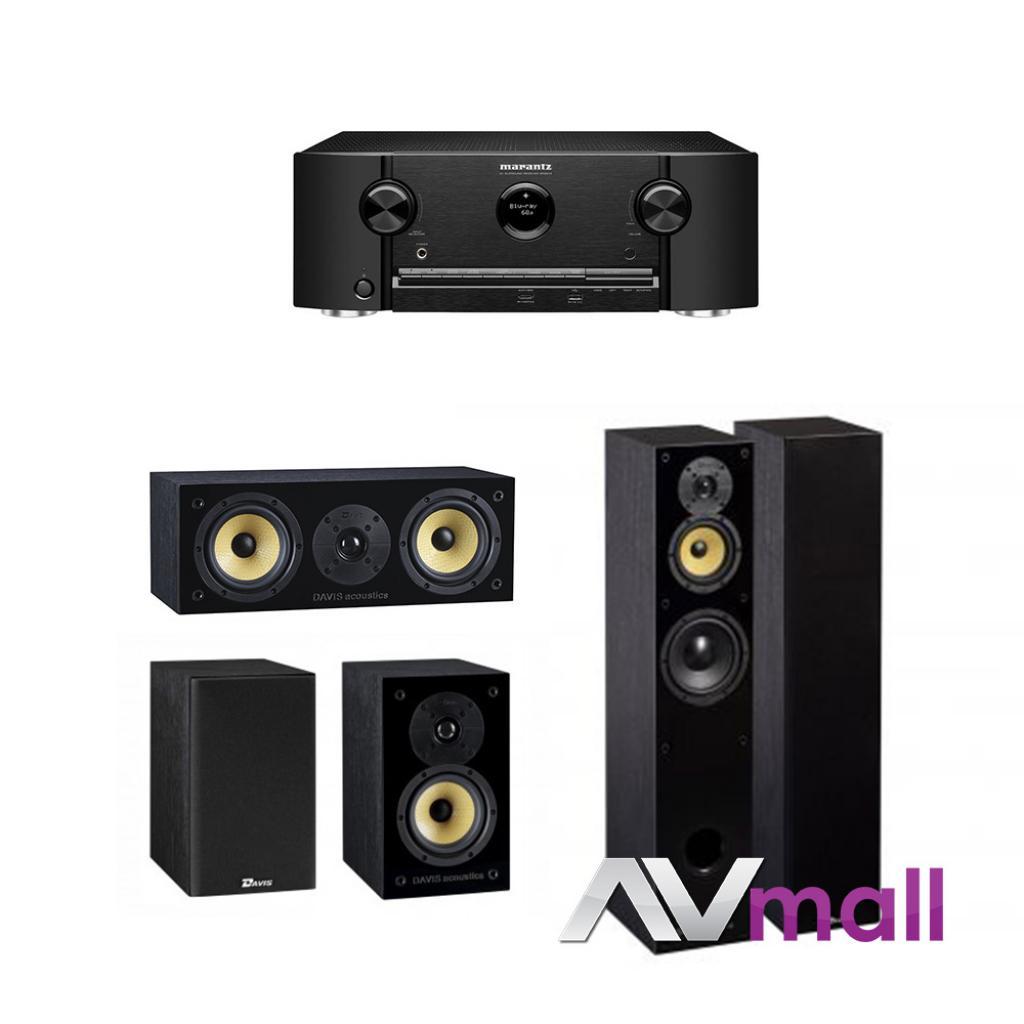 Pachet Receiver AV Marantz SR5013 + Pachet Boxe Davis Acoustics Balthus 50 + Boxe Davis Acoustics Balthus 30 + Boxa Davis Acoustics Balthus 10