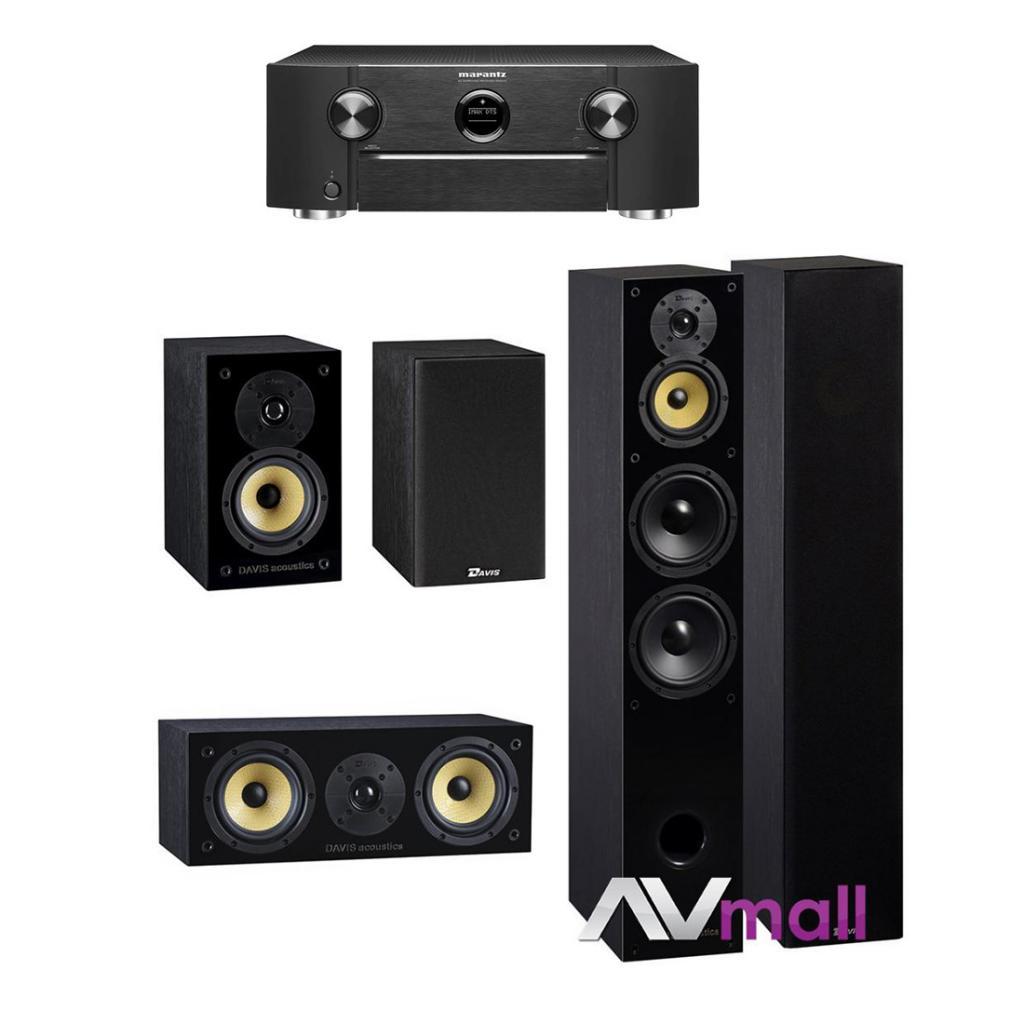 Marantz - Davis Acoustics Pachet Receiver AV Marantz SR6013 + Pachet Boxe Davis Acoustics Balthus 70 + Boxe Davis Acoustics Balthus 30 + Boxa Davis Acoustics Balthus 10