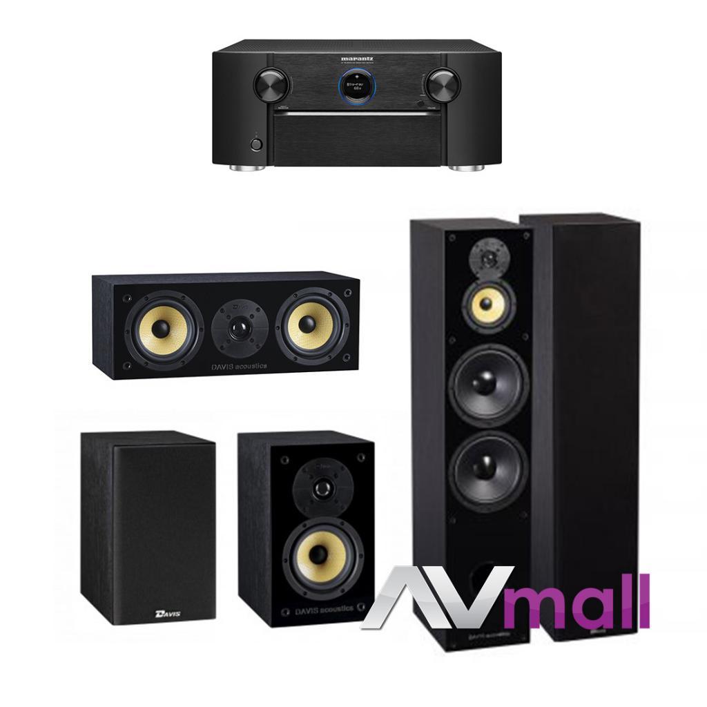 Marantz - Davis Acoustics Pachet Receiver AV Marantz SR7013 + Pachet Boxe Davis Acoustics Balthus 90 + Boxe Davis Acoustics Balthus 30 + Boxa Davis Acoustics Balthus 10