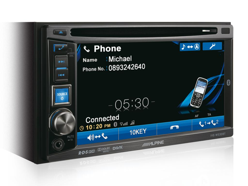 DVD Auto Alpine IVE-W530BT