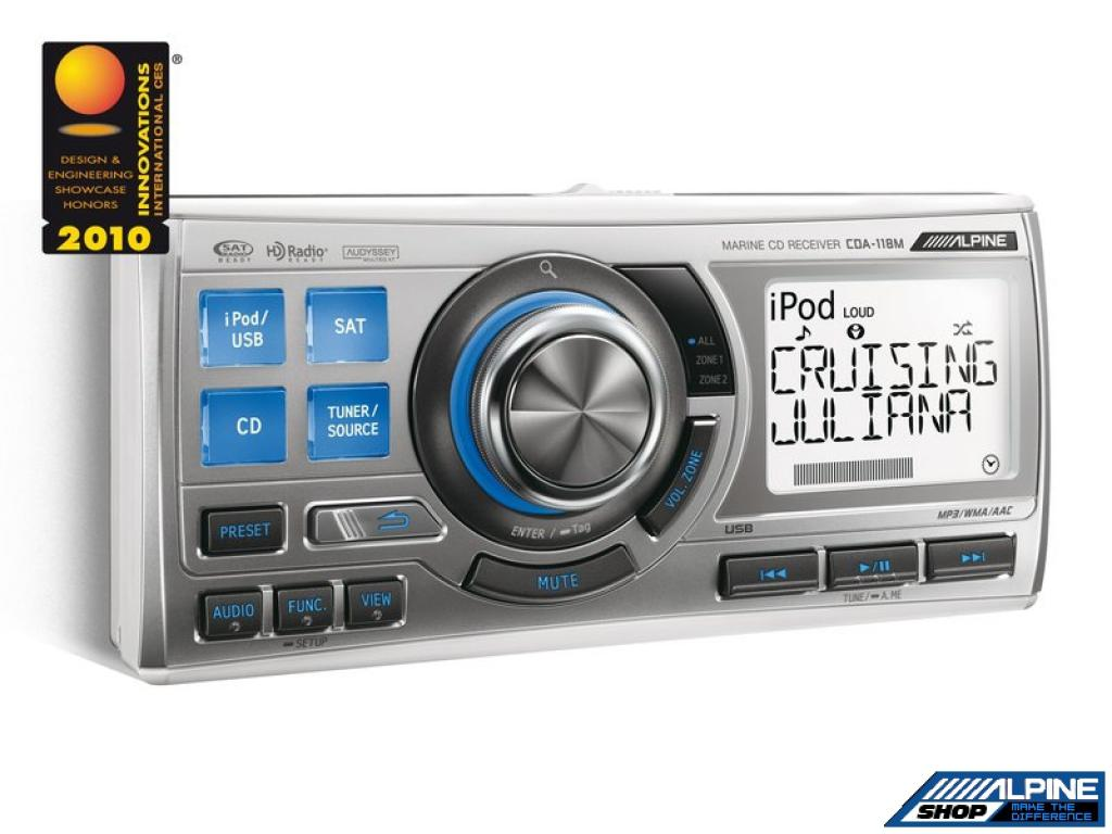 CD Player Auto Alpine CDA-118M