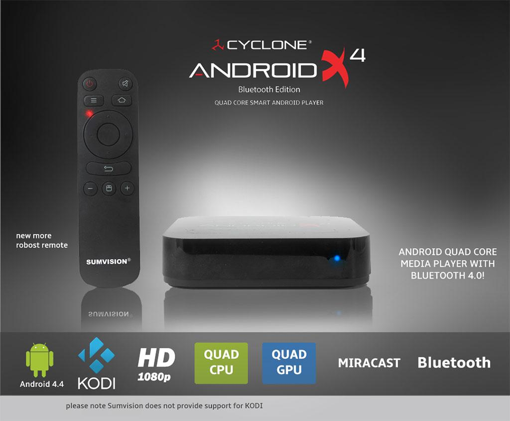 Media Player Sumvision Cyclone Android X4 Bluetooth Player