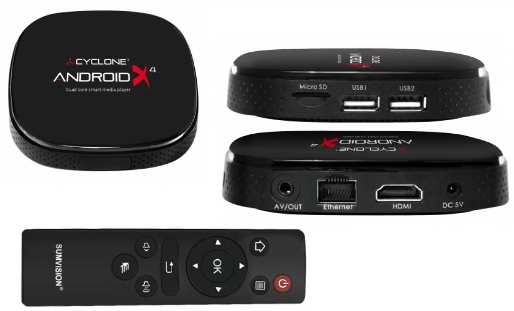 Media Player Sumvision Cyclone Android X4 Quad Core Player
