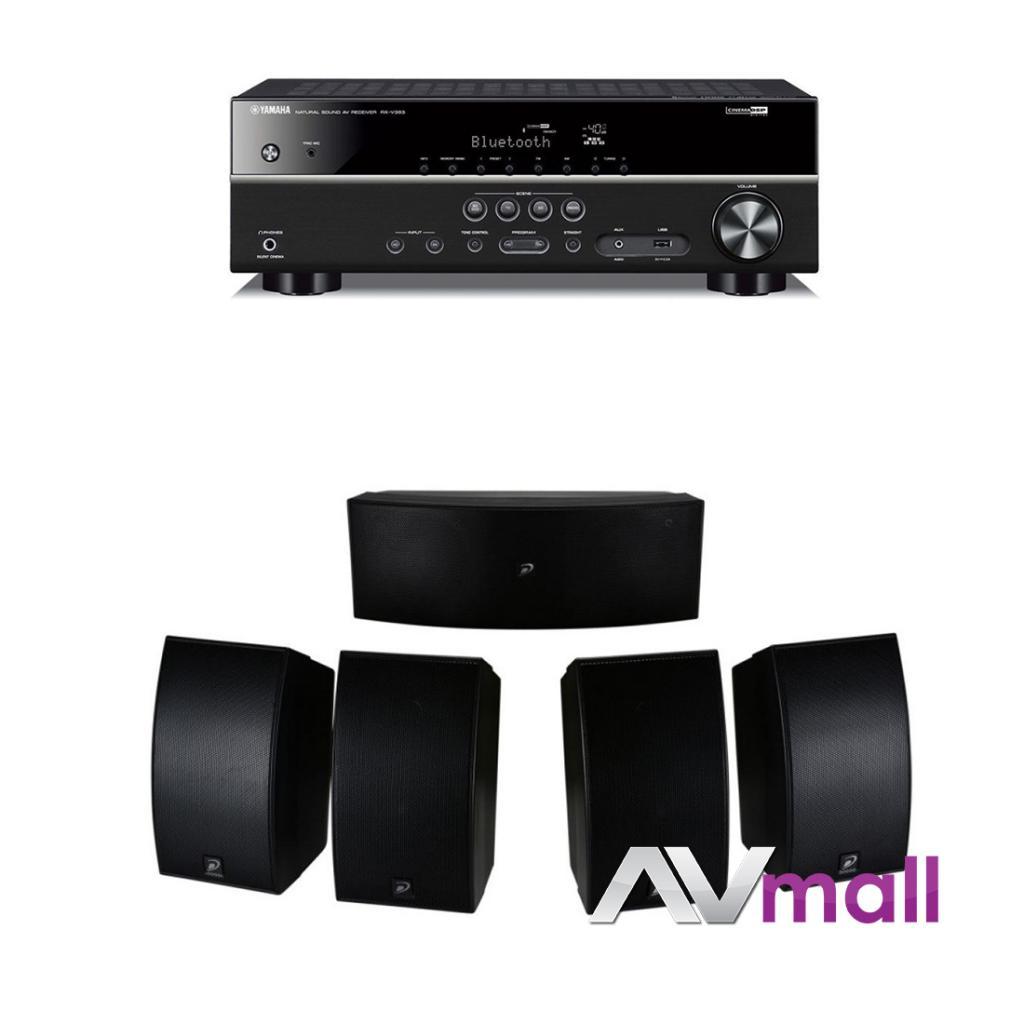 Pachet Receiver AV Yamaha RX-V383 + Boxe Dayton Audio HTS-1200B